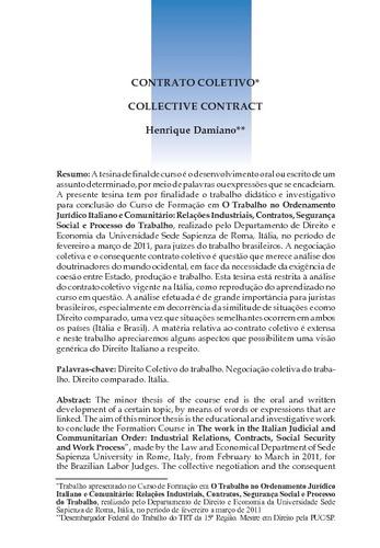 Contrato Coletivo