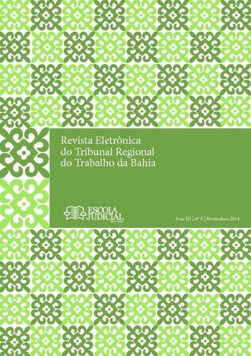 Revista Eletrônica do Tribunal Regional do Trabalho da Bahia 965cee1ad9da5
