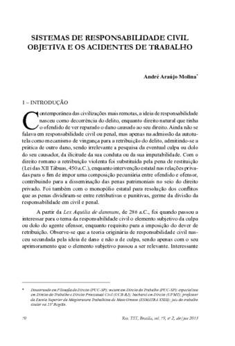 Molina André Araújo Sistemas De Responsabilidade Civil