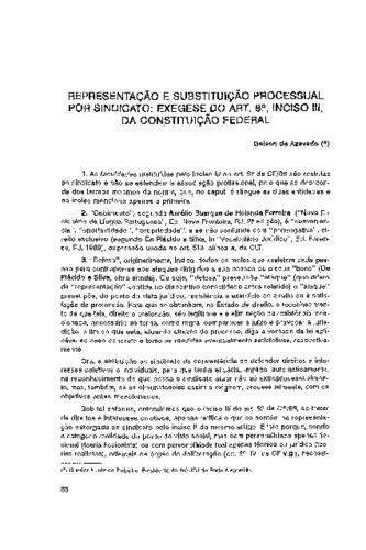 representação e substituição processual por sindicato exegese do artrepresentação e substituição processual por sindicato exegese do art 8 , inciso iii, da constituição federal